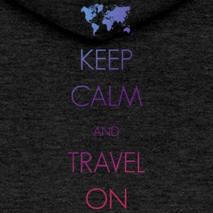 Keep calm and travel on - Frauen Premium Kapuzenjacke