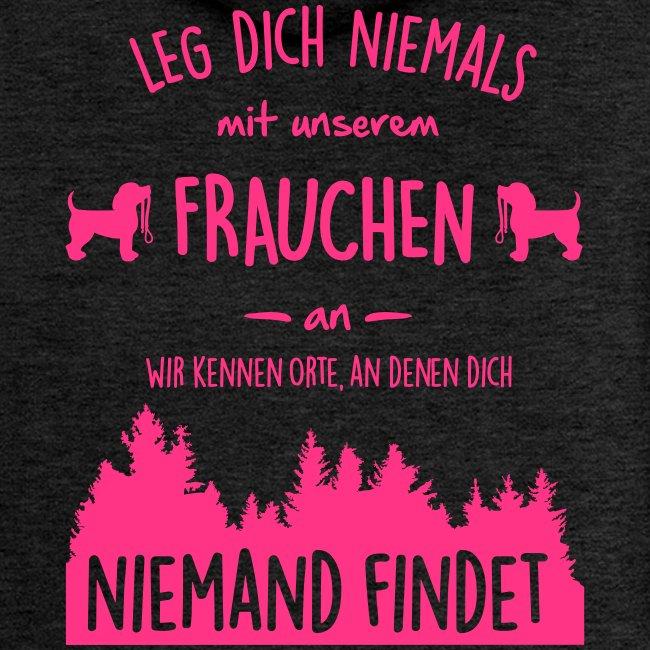 Vorschau: Unser Frauchen - Frauen Premium Kapuzenjacke