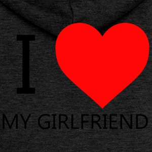 I LOVE MY GIRLFRIEND T-SHIRT - Women's Premium Hooded Jacket