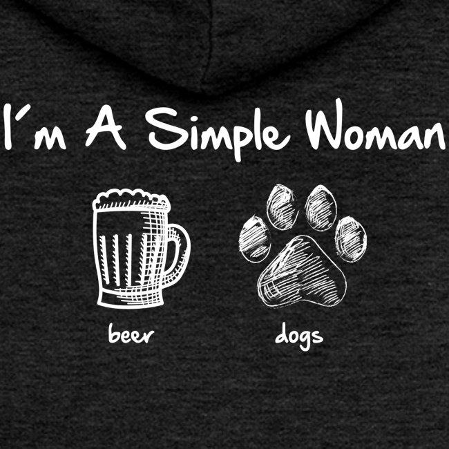 Vorschau: simple woman beer white - Frauen Premium Kapuzenjacke