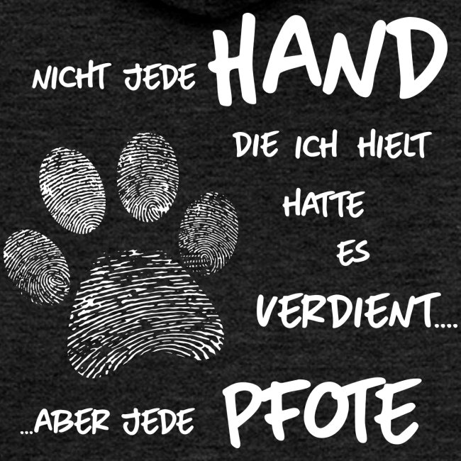 Vorschau: Hand Pfote Hund - Frauen Premium Kapuzenjacke
