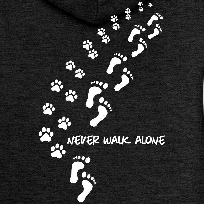 Vorschau: never walk alone dog - Frauen Premium Kapuzenjacke