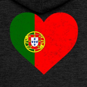 Portugal Flag Shirt Heart - Portuguese Shirt - Women's Premium Hooded Jacket