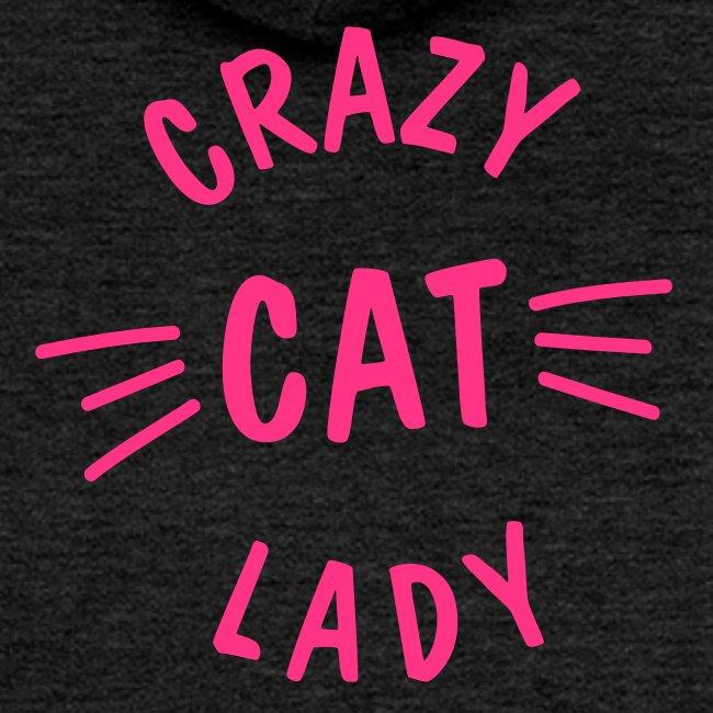 Vorschau: Crazy Cat Lady meow - Frauen Premium Kapuzenjacke