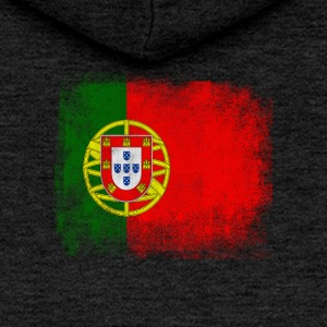 Portugal Flag Proud Portoguese Vintage Distressed - Women's Premium Hooded Jacket