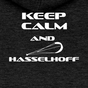 KITESURFING KEEP CALM AND HASSELHOFF - Frauen Premium Kapuzenjacke