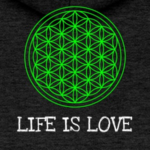 Life flower Flower of life Life is love - Women's Premium Hooded Jacket