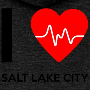 I Love Salt Lake City - I love Salt Lake City - Women's Premium Hooded Jacket