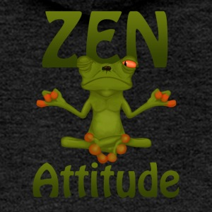 Frog Zen Attitude - Women's Premium Hooded Jacket