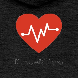 nurse with love - Women's Premium Hooded Jacket