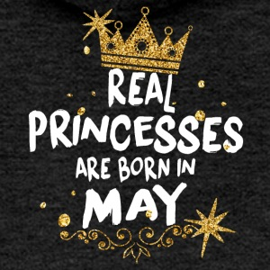 Real princesses are born in May! - Women's Premium Hooded Jacket