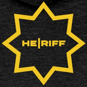 Sheriff guitar player sign for him. - Women's Premium Hooded Jacket