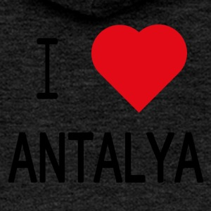 I Love Antalya - Women's Premium Hooded Jacket