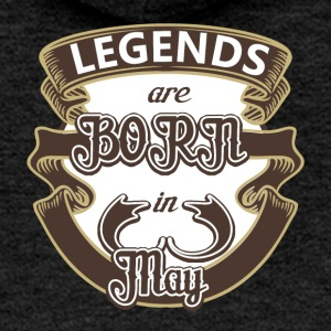 Birthday May legends born gift birth - Women's Premium Hooded Jacket