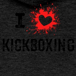 ILove Kickboxing red - Women's Premium Hooded Jacket