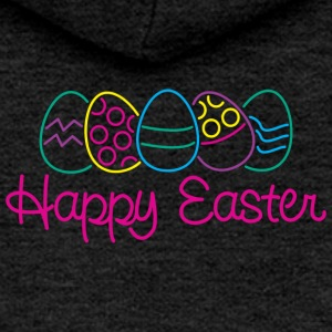 Easter Happy Easter Eggs - Women's Premium Hooded Jacket