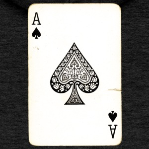 Games Card Ace Of Spades - Women's Premium Hooded Jacket