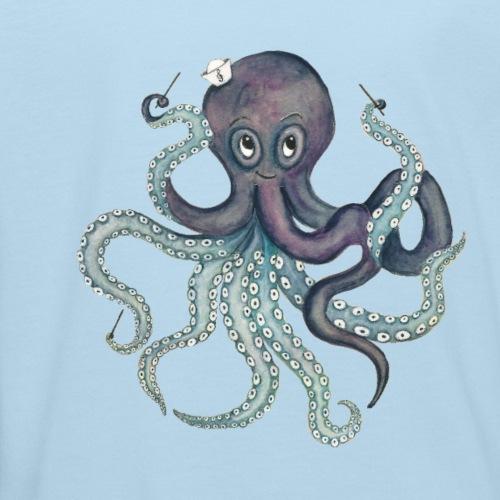Oktopus mit weißem Logo - KlingBim Kinderlieder - Kinder Bio-T-Shirt