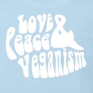 Love Peace & Veganism - Ekologisk T-shirt barn