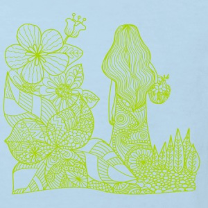 mother nature drawing green - Kids' Organic T-shirt