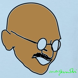 Gandhi drawing with signature - Kids' Organic T-shirt