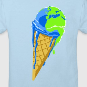 planete_qui_se warms. - Kids' Organic T-shirt