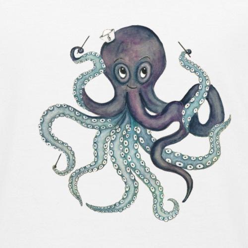 Oktopus mit schwarzem Logo - KlingBim Kinderlieder - Kinder Bio-T-Shirt