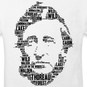 Thoreau Schablone Wortwolke - Kinder Bio-T-Shirt