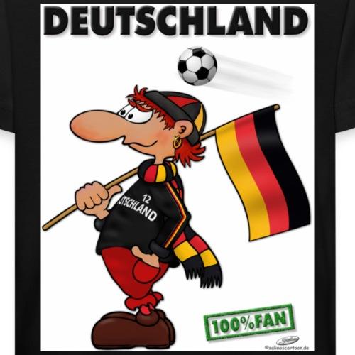 Fan Deutschland red - Kinder Bio-T-Shirt