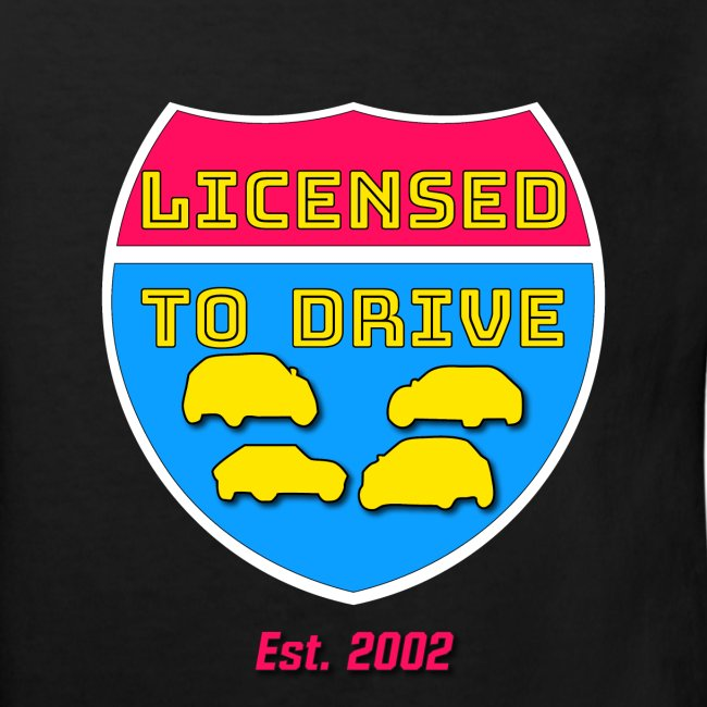 licensed to drive t-shirt 2002