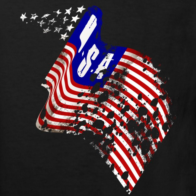 Worn-out USA flag