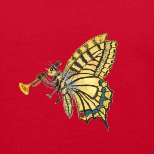 Schmetterling mit weißem Logo - KlingBim - Kinder Bio-T-Shirt