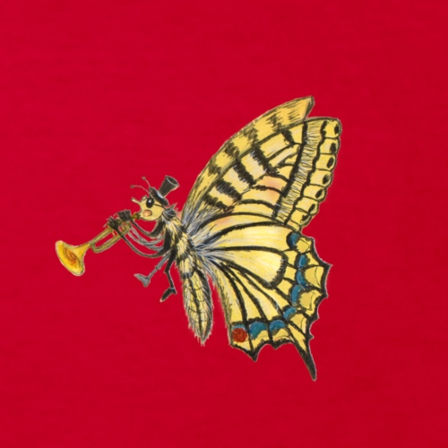 Schmetterling mit weißem Logo - KlingBim