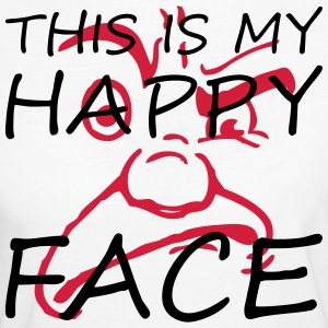 This is my happy face - Frauen Bio-T-Shirt