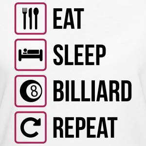 Eat Sleep Billiard Repeat - Frauen Bio-T-Shirt