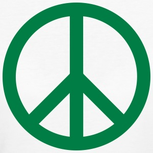 Peace Sign Filled Green - Frauen Bio-T-Shirt