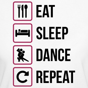 Eat Sleep Dance Repeat - Ekologisk T-shirt dam