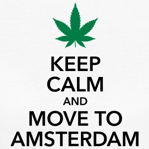 Keep calm move to Amsterdam Holland Cannabis Weed - Women's Organic T-shirt