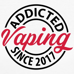 Vaping - Addicted desde 2017 - Camiseta ecológica mujer