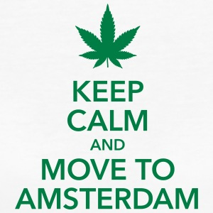 keep calm move to Amsterdam Holland Cannabis Weed - Frauen Bio-T-Shirt