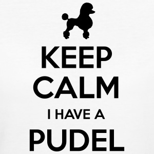 Poodle - Keep Calm - Women's Organic T-shirt