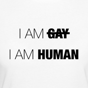 SOY GAY - SOY HUMANO - Camiseta ecológica mujer