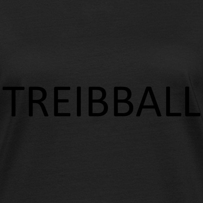 Treibball-Schlüsselband mit orangem Schriftzug