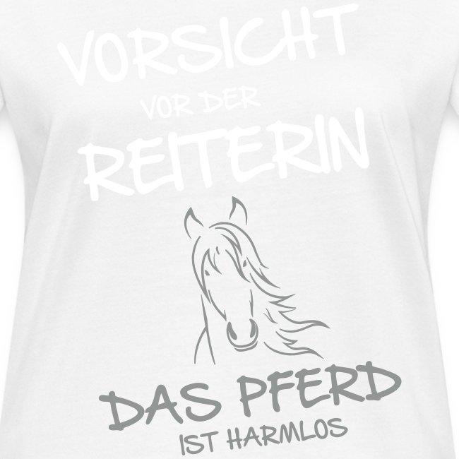 Vorschau: Vorsicht vor der Reiterin - Frauen Bio-T-Shirt