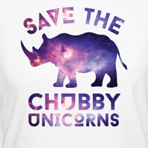 SAVE THE CHUBBY UNICORNS T-SHIRT - Women's Organic T-shirt