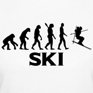 Evolution ski skier ski slope bt - Women's Organic T-shirt
