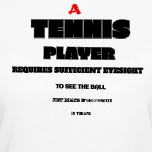 PROVA DI TENNIS EYE - T-shirt ecologica da donna