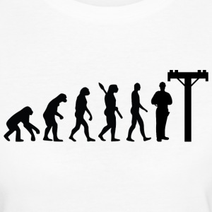 Evolution Elektriker Elektrik Black - Frauen Bio-T-Shirt