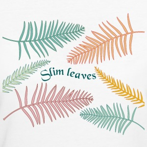 slim leaves - T-shirt ecologica da donna