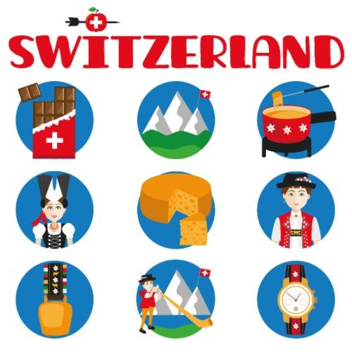 Switzerland - Frauen Bio-T-Shirt